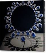 Hall Sapphire And Diamond Necklace Canvas Print