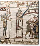 Halleys Comet Of 1066, Bayeux Tapestry Canvas Print