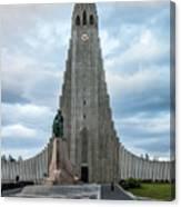 Hallgrimskirkja - The Largest Church In Iceland Canvas Print