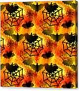Halloween Abstract - Happy Halloween Canvas Print