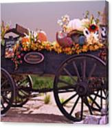 Halloween Cart Full Of Fall Harvest Goodies  Canvas Print