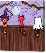 Halloween Cat Costumes Canvas Print