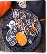 Halloween Cookies Canvas Print