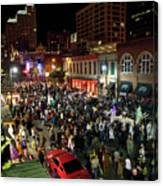Halloween Draws Tens Of Thousands To Celebrate On 6th Street Canvas Print
