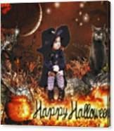 Halloween Girl Canvas Print