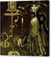 Halloween Graveyard-c Canvas Print