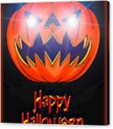 Halloween Greeting Card Canvas Print