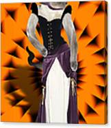 Halloween Hussy Canvas Print