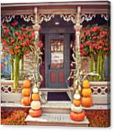 Halloween In A Small Town Canvas Print