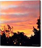 #halloween #morning #sky Is On #fire Canvas Print