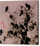 Halloween Ravens Canvas Print