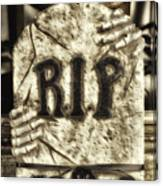 Halloween Rip Rest In Peace Headstone Canvas Print