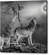 Halloween - Spirits Of The Wolf Canvas Print