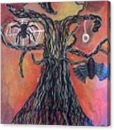 Halloween Tree Canvas Print