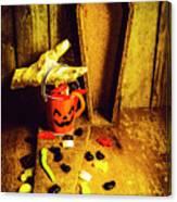 Halloween Trick Of Treats Background Canvas Print