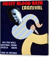 Halloween Wpa Parody Poster Canvas Print