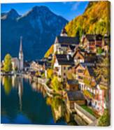 Hallstatt In Fall Canvas Print