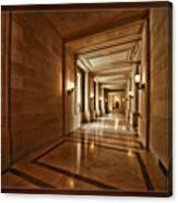 Hallway In City Hall Sf Canvas Print