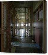 Hallway With Solitary Confinement Cells In Prison Hospital Canvas Print