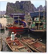 Halong Bay Harbor Scene Canvas Print