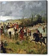 Halt Of Prince Charles Edward On The Banks Of The Nairne Canvas Print