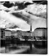 Hamburg At Sunset Canvas Print