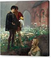 Hamlet And The Gravediggers Canvas Print