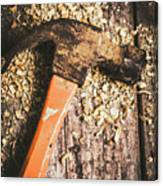 Hammer Details In Carpentry Canvas Print