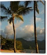 Hammock Between Palms Canvas Print