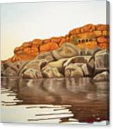 Hampi On Tungabadra Canvas Print