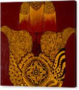 Hamsa- Brown Canvas Print
