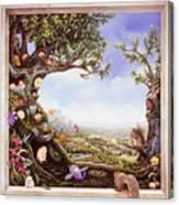 Hamster Tree Window Canvas Print
