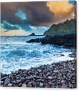 Hana Bay Pebble Beach Canvas Print