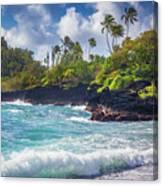 Hana Bay Waves Canvas Print