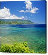 Hanalei Bay And Bali Hai Canvas Print