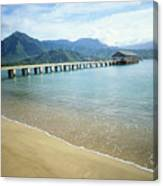 Hanalei Bay And Pier Canvas Print