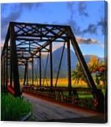 Hanalei Bridge Canvas Print