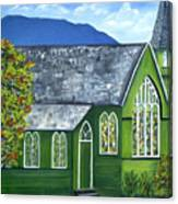 Hanalei Church Canvas Print