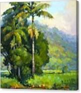 Hanalei River Moonrise Canvas Print