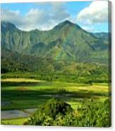 Hanalei Valley Rainbow Canvas Print