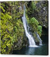 Hanawai Waterfall Canvas Print