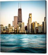Hancock Building And Chicago Skyline Photo Canvas Print