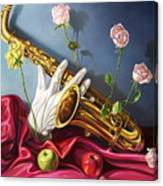 Hand And Sax Canvas Print
