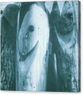 Hand Carved Fish Sculptures Canvas Print