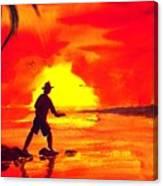 Hand Line Fisherman Canvas Print