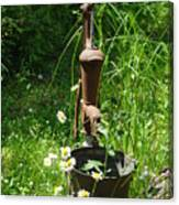 Hand Pump In The Spring Canvas Print