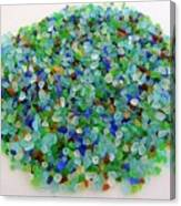 Handful Of Sea Glass Canvas Print