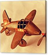Handmade Metal Toy Plane Canvas Print