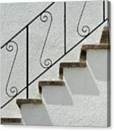 Handrail And Steps 1 Canvas Print