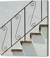 Handrail And Steps 2 Canvas Print